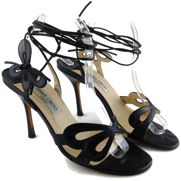 Jimmy Choo Laceup Butterfly Sandals